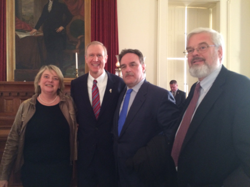 swearing-in ceremony in Springfield